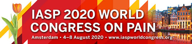IASP 2020 World Congress on Pain   August 4 8   Amsterdam (NL)