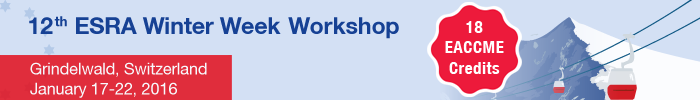 12th ESRA Winter Week Workshop, January 17-22, 2016 - Grindelwald (Switzerland)
